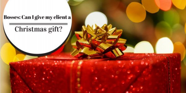 Can I give a Christmas gift to my clients?