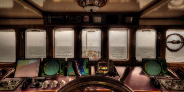 Steering boat