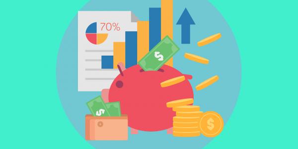 Money and budgeting - piggy bank