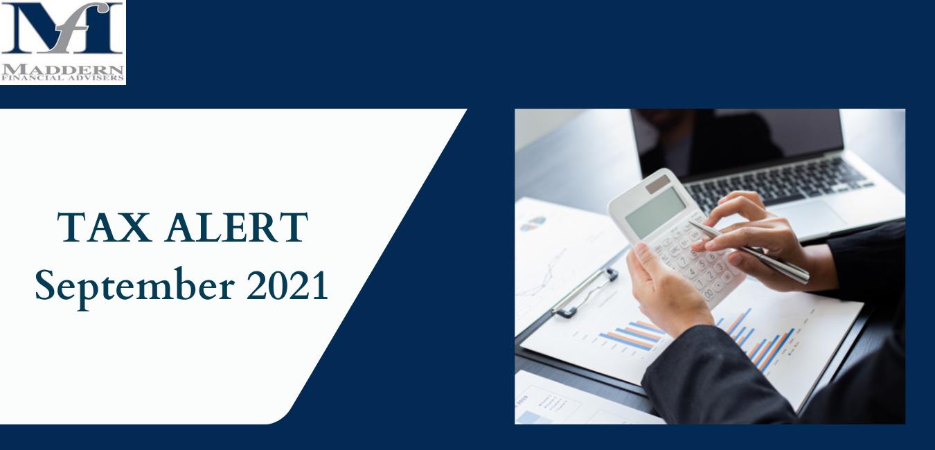 Tax Alert - September 2021