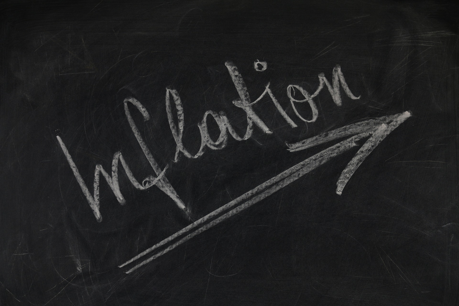 Inflation written on blackboard
