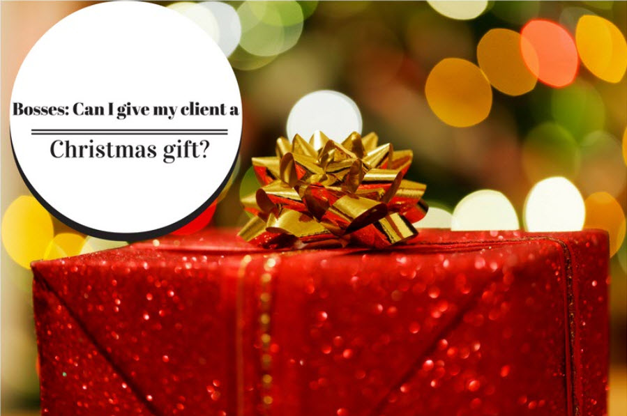 can i give a christmas gift to my clients